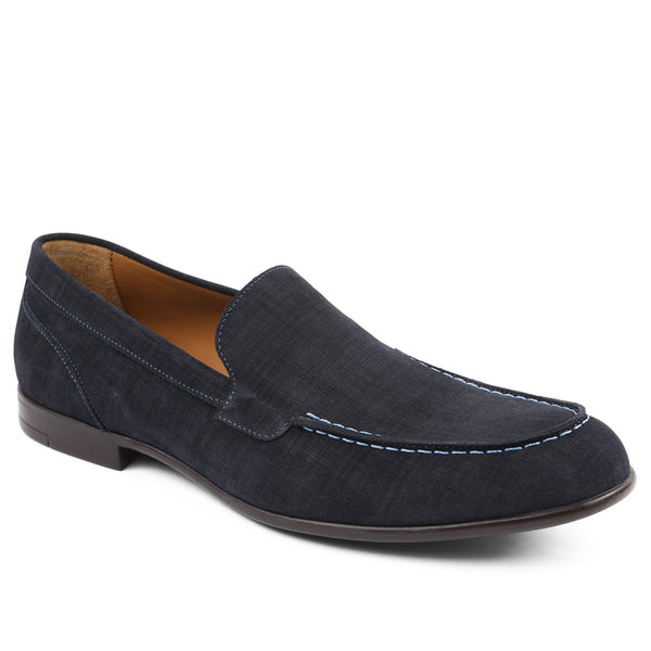 Sino Suede Moc-Toe Loafer - Navy