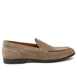 Sino Suede Moc-Toe Loafer - Sand
