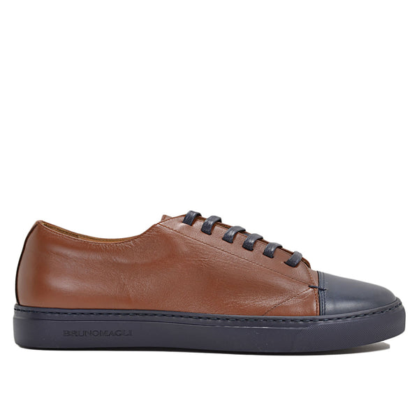 Vento Sneaker - Cognac/Blue Leather