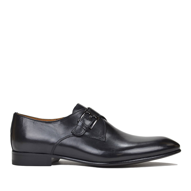 Vitale Monk Strap - Black Leather