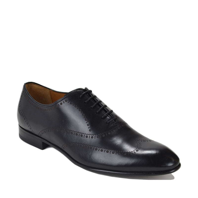Vittorio Men's Leather Lace-up Oxford - Black
