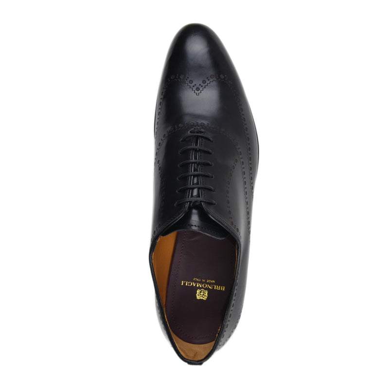 Vittorio Men's Leather Lace-up Oxford - Black - FINAL SALE
