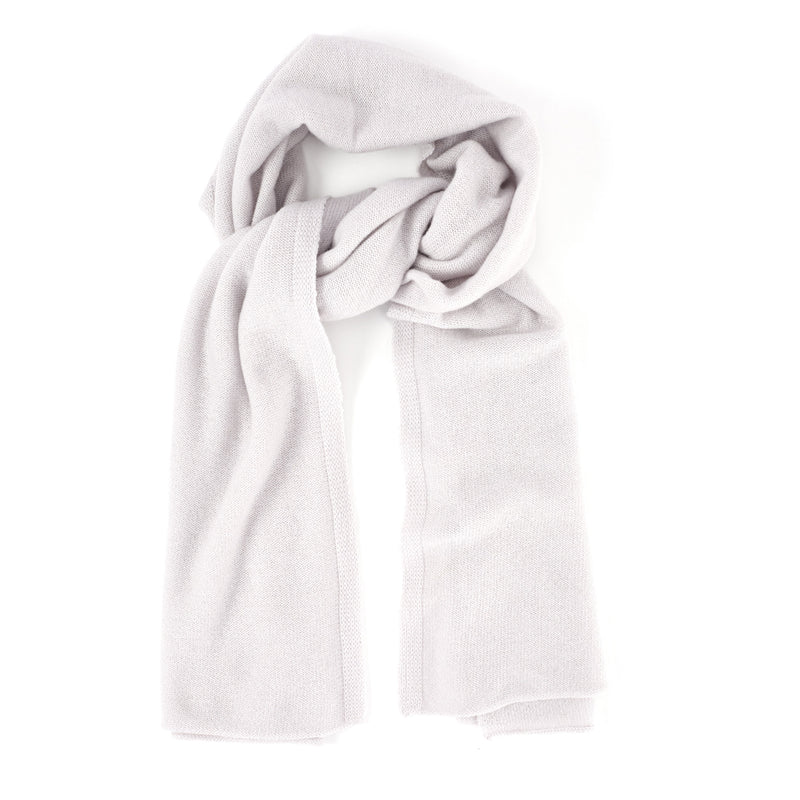 Elena Knit Cashmere Scarf - Blush - FINAL SALE