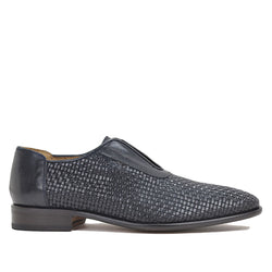 Willis Slip-on - Navy Woven Leather