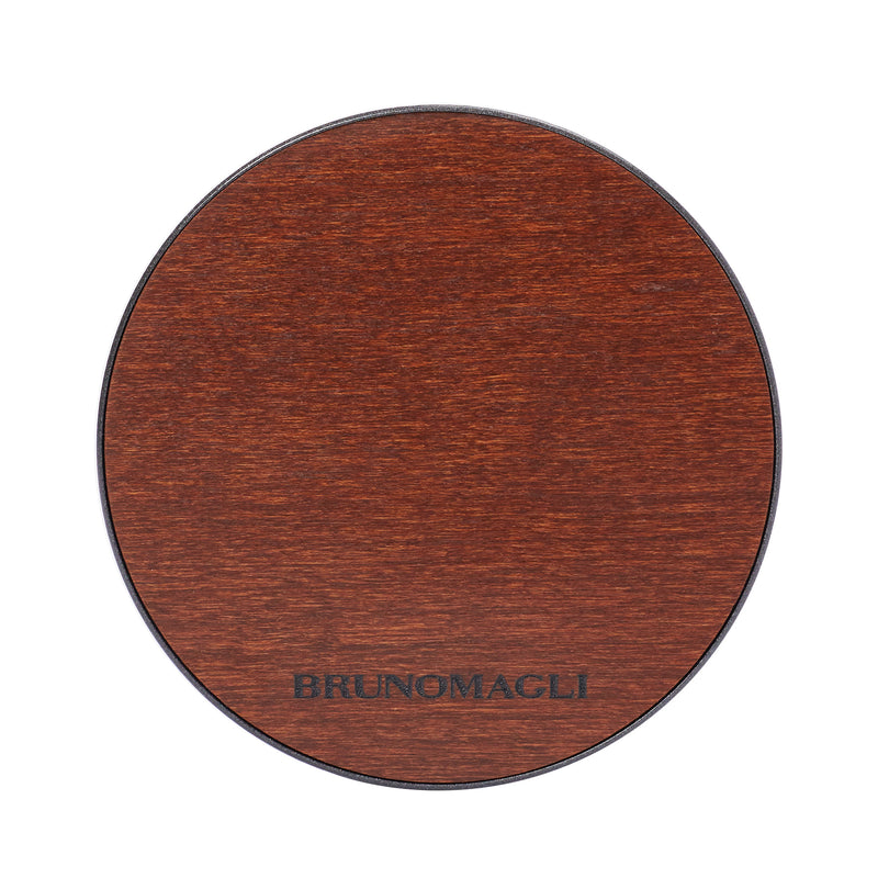 Wood Wireless Charging Pad - Wood/Iron