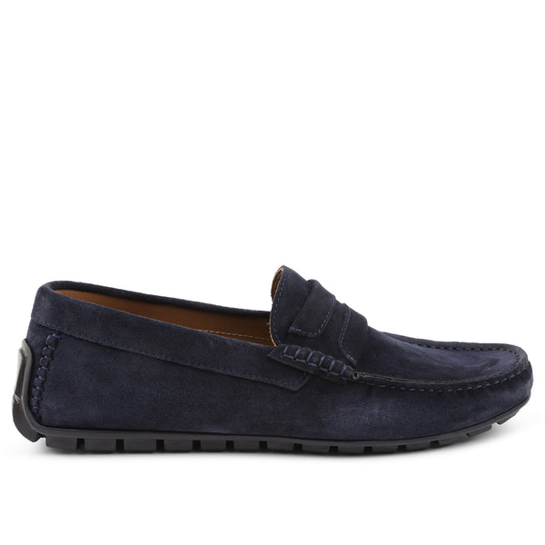Xeleste Suede Driving Moccasin - Navy