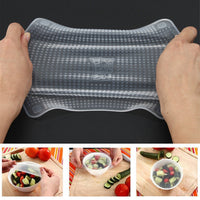 Transparent Silicone Cling Seal Film Multifunctional Food Fresh Keeping Saran Wrap