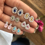 Retro Diamond 6 Pairs Bohemian Earrings