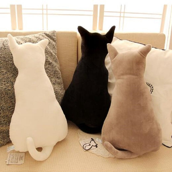 KCASA KC Super Cute Soft Plush Cat Back Sofa Pillow Cushion Stuffed Animal Doll Pillows