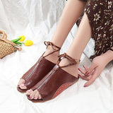 Ankle Strap Open Toe Flat Spring Summer Beach Sandals