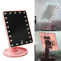 16 LED Light Touch Screen Cosmetic Mirror Makeup Tool Adjustable 360 Degree Rotation Vanity Mirrors
