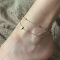 Summer Beach Heart Shaped Anklet