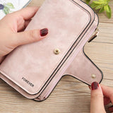 Stylish Handbags Four Fold Wallet Purse 10 Card Slot PU Card Bag