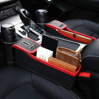 PU Leather Car Storage Bag Money Pot Car Seat Pocket Organizer