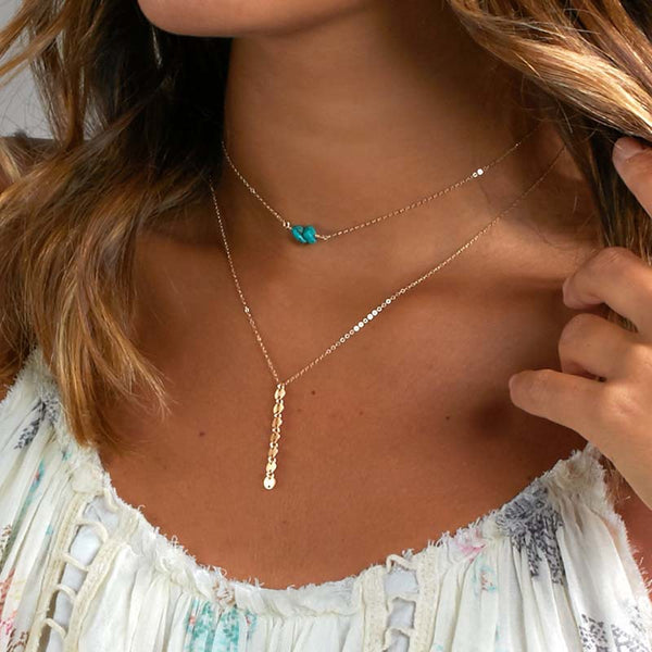 Turquoise Exquisite Handmade Multilayer Necklace