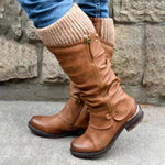 Women's Flat Heel Casual Winter Boots