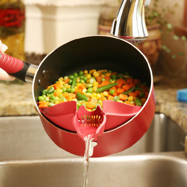 Vegetables Food Control Drain Device Strainer Debris Filter Kitchen Gadget Utility