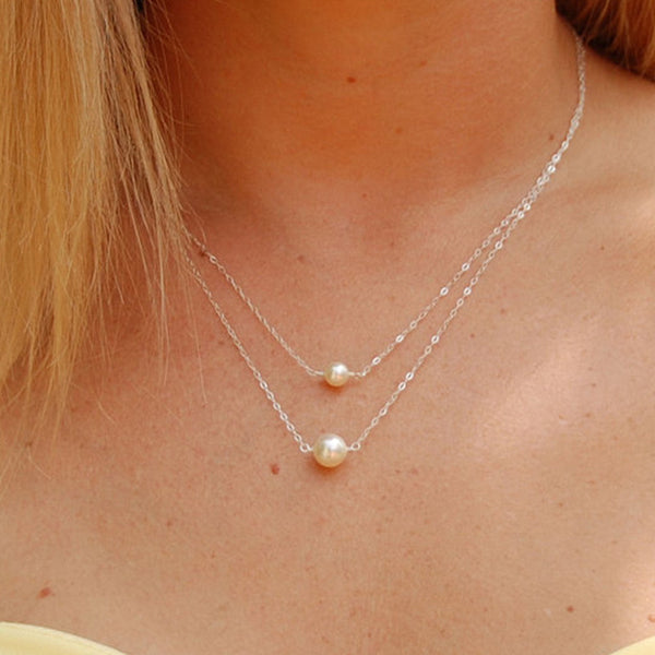 Chic Double Lay Pearl Necklace