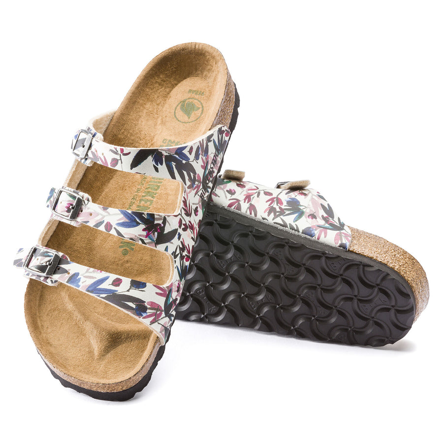 Birkenstock Florida Floral Off White Women | Lyn Rose Boutique