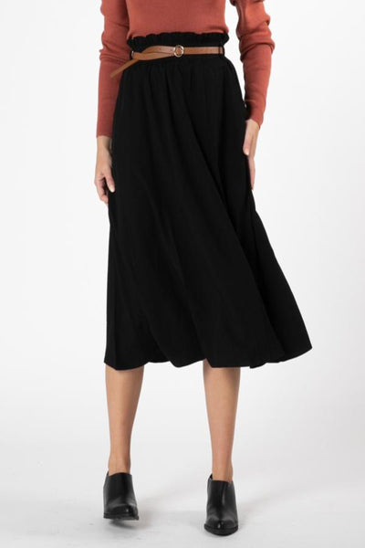 Millay Paperbag Skirt Black | Lyn Rose Boutique