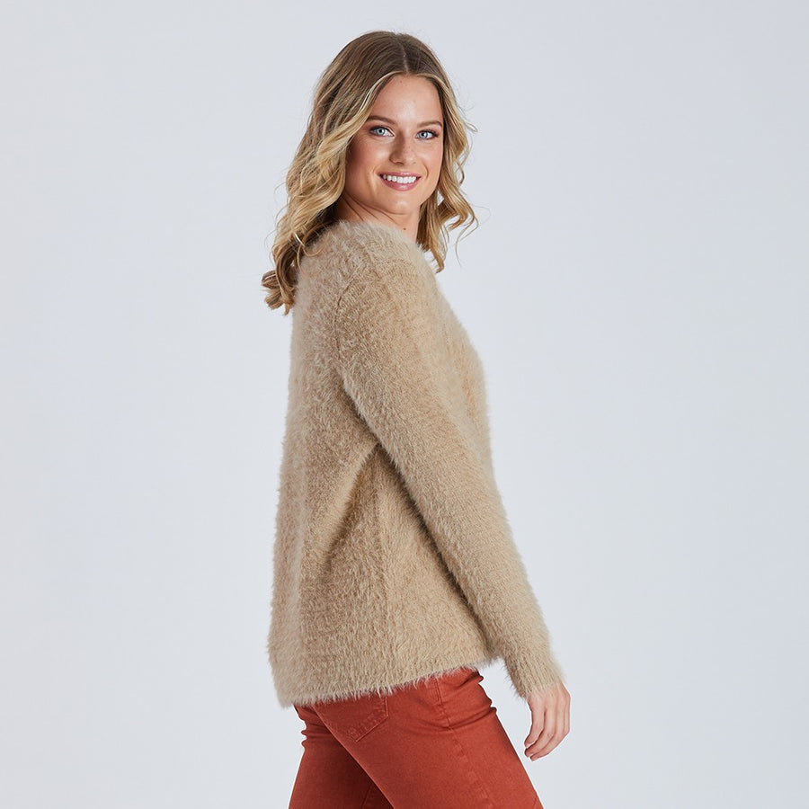 Faux Fur Knit - Natural