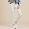 Tie Front Gathered Jeans Women Natural | Lyn Rose Boutique