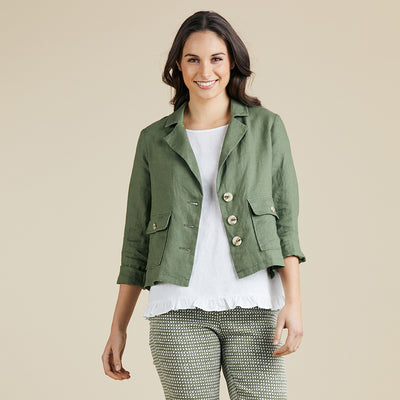 Danielle Linen Blazer Women | Lyn Rose Boutique