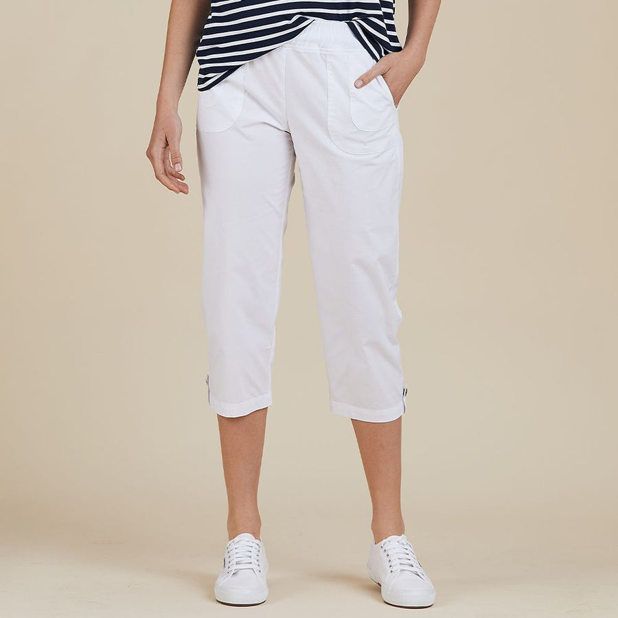 Cotton Short Pant - White