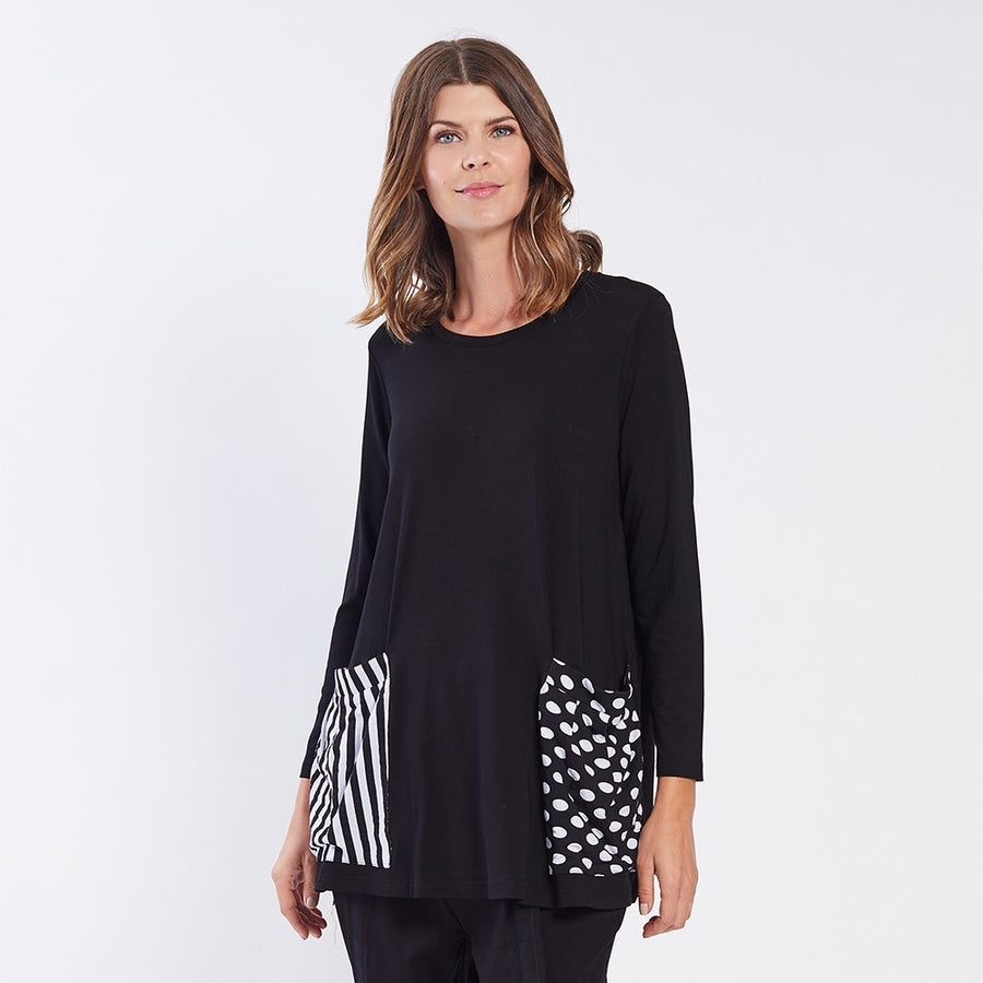 Splice Print Pocket Top
