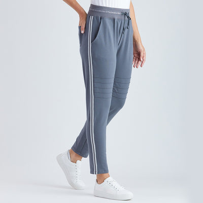 Metallic Trim Track Pant I Lyn Rose Boutique