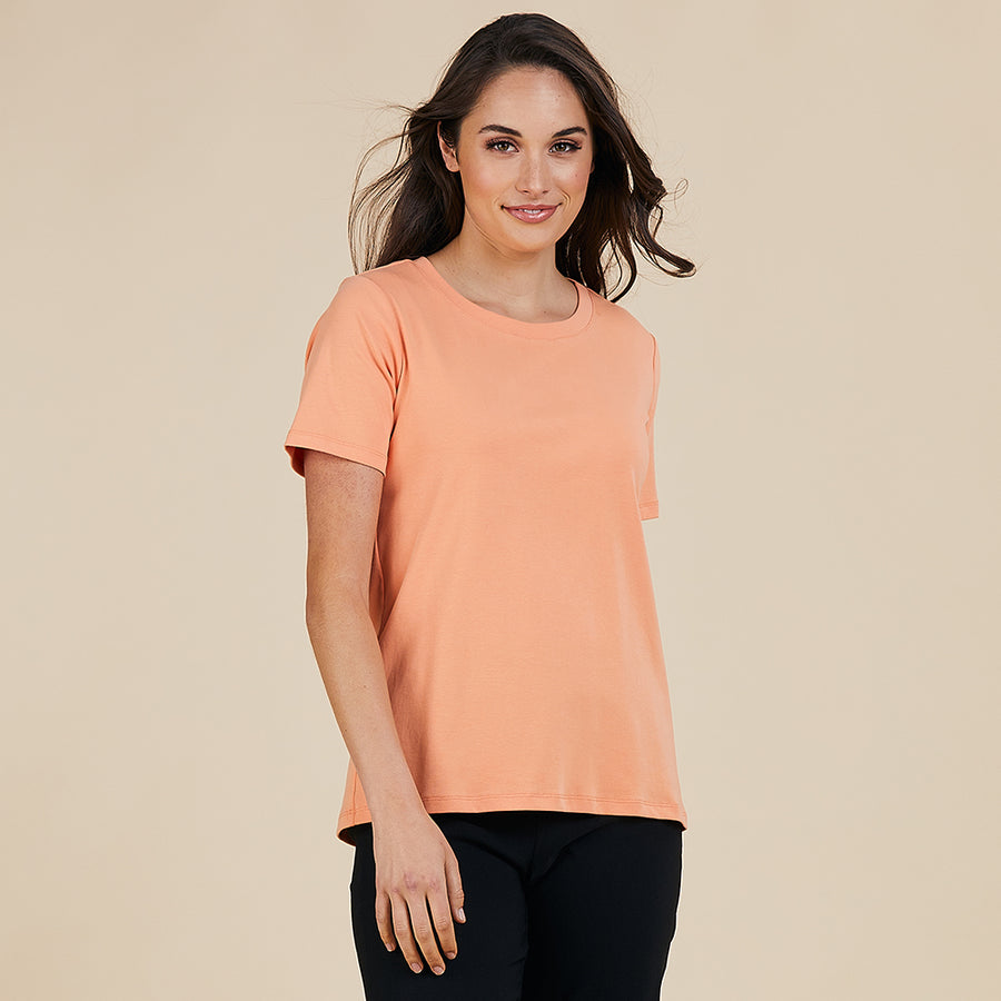 Threadz Rib Tee - Orange