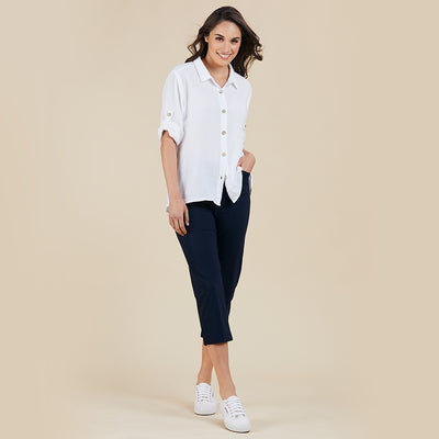 Textured Shirt - White