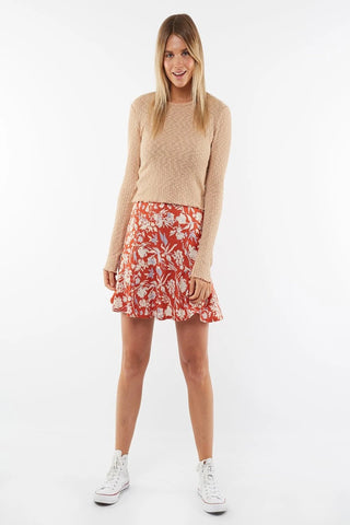 Floral fields mini skirt
