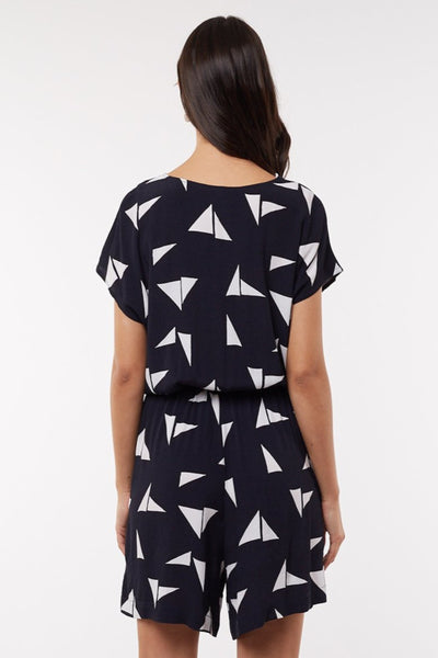 Origami Playsuit Women Navy | Lyn Rose Boutique