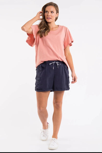 Lake Side Short Women Navy | Lyn Rose Boutique