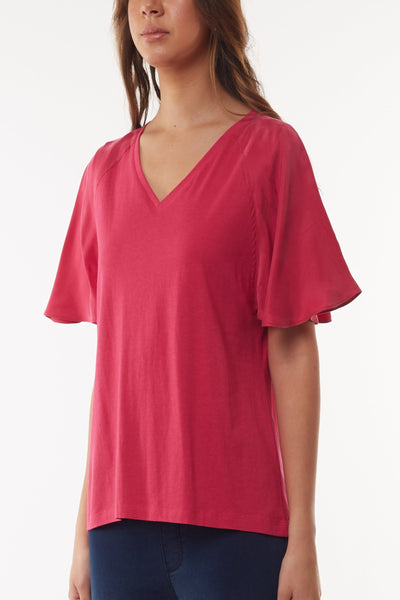 Tess Flutter Sleeve Tee Women | Lyn Rose Boutique