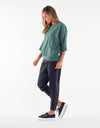 Fundamental Mazie Sweat Sage Green | Lyn Rose Boutique