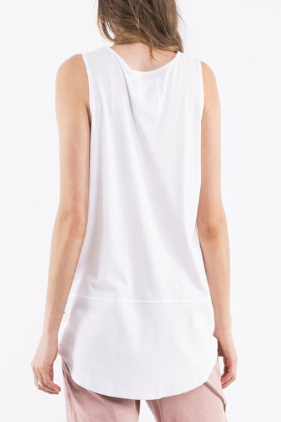 Elm Rib Tank Women White | Lyn Rose Boutique