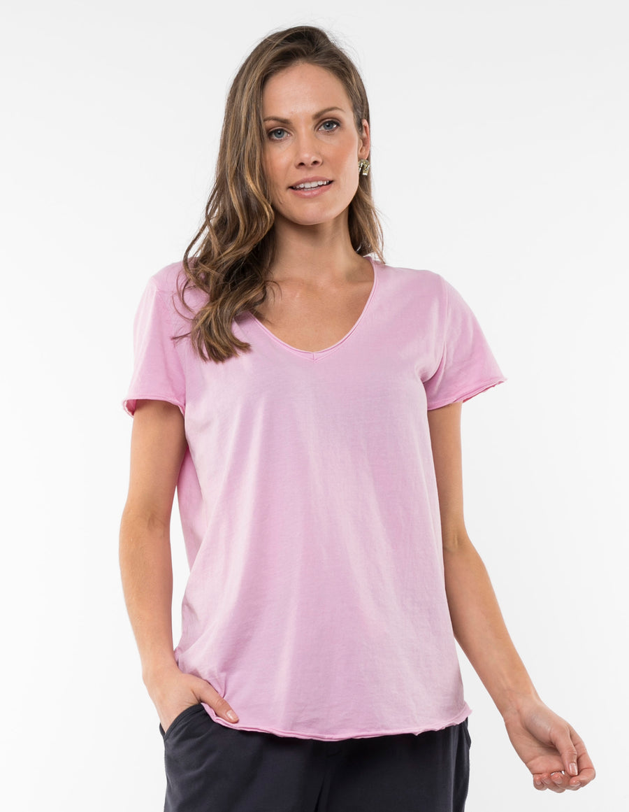 Fundamental V Tee Women Ice Lilac | Lyn Rose Boutique