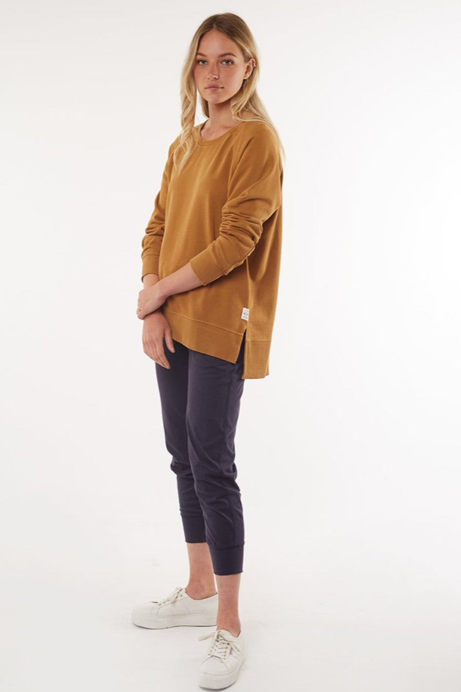 Fundamental Sydney Crew Mustard | Lyn Rose Boutique