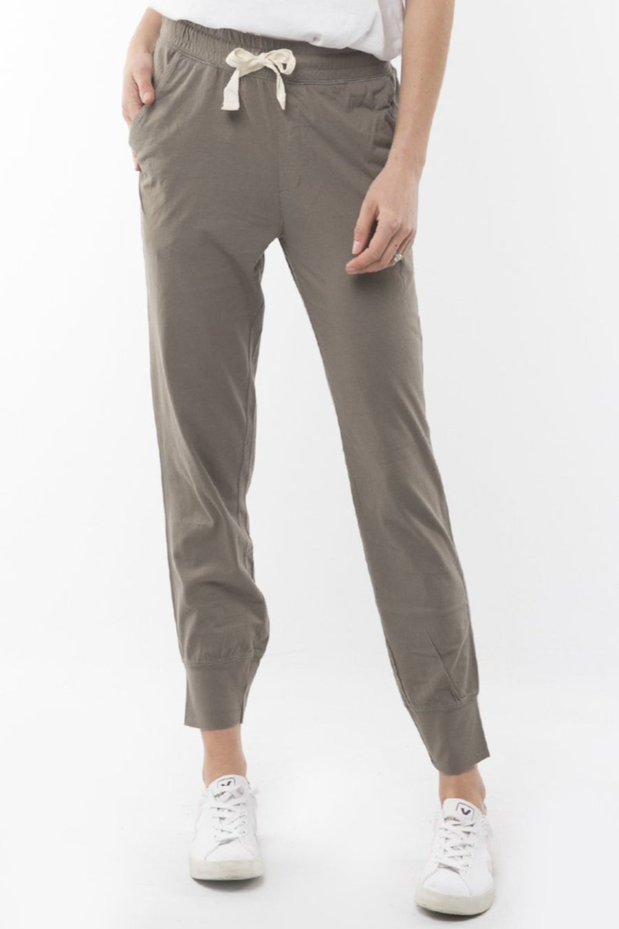 Wash Out Pant Women Khaki | Lyn Rose Boutique