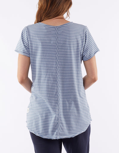 Remi Stripe tee - Blue