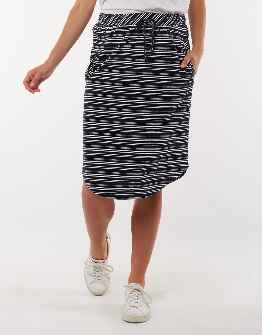 Fundamental Isla Skirt - Navy Stripe