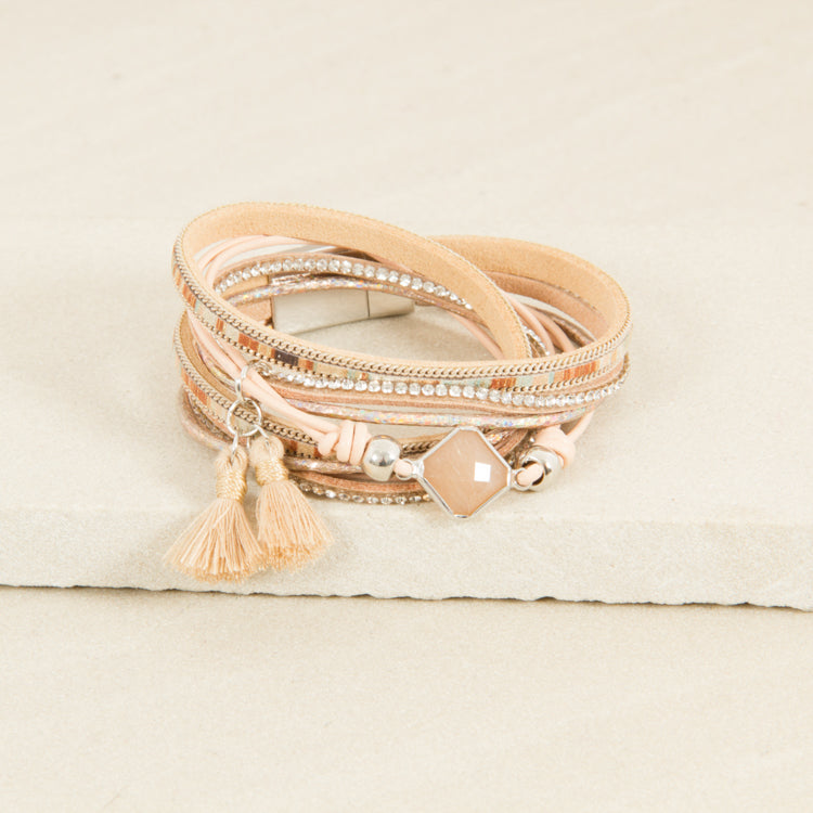 Mini Tassel Wrap Cuff | Lyn Rose Boutique