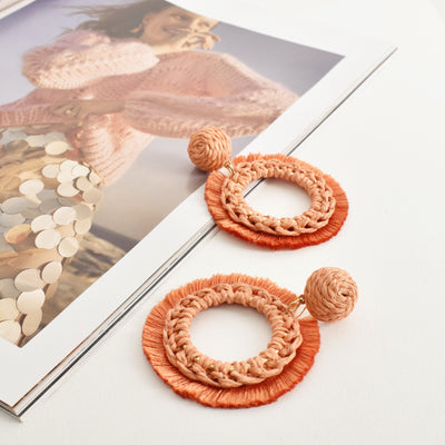 Crochet Fringe Layered Earrings | Lyn Rose Boutique