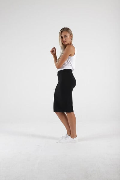 Alicia Midi Skirt - Black