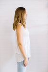 Mesh Double Layer Tank Women White | Lyn Rose Boutique