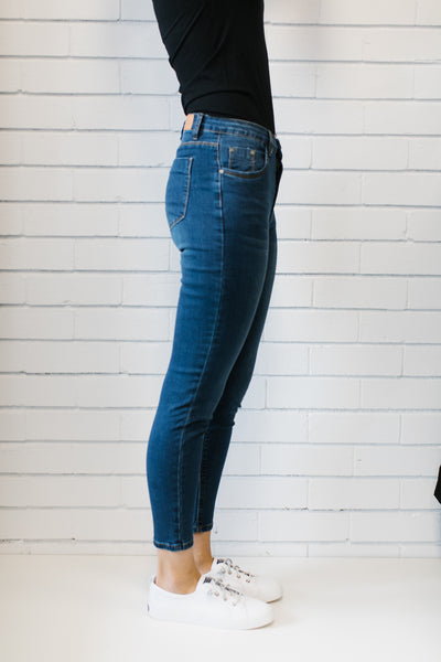 7/8 Dark Blue Denim Women | Lyn Rose Boutique