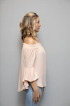 Off Shoulder Top Women Peach | Lyn Rose Boutique