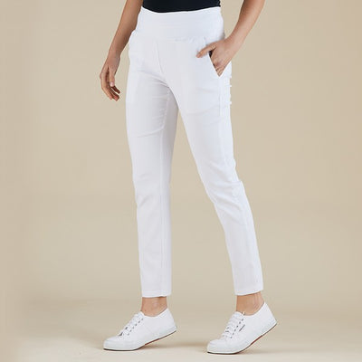 Pull on Pant - White